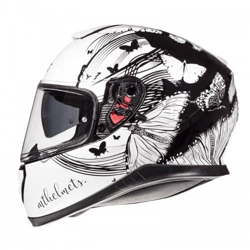 Κράνος MT Thunder 3 SV Vlinder gloss pearl άσπρο-μαύρο