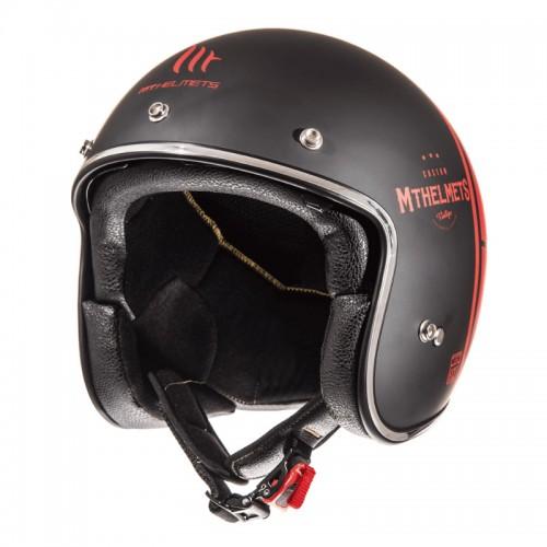 Κράνος MT Le Mans 2 SV Divenire ματ μαύρο-κόκκινο