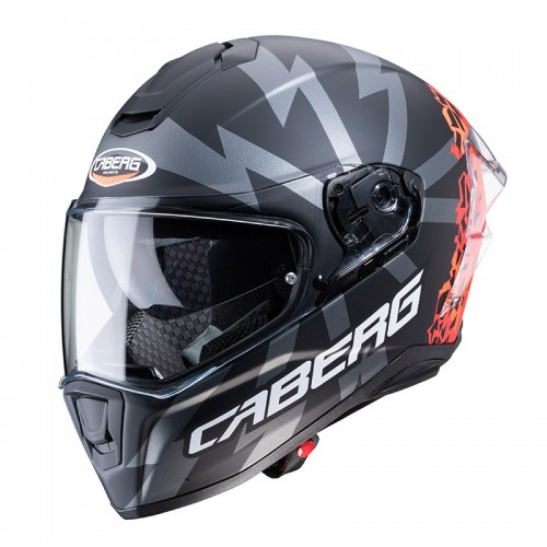 Caberg Drift Evo Storm matt black/orange fluo