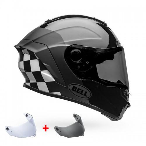 Κράνος Bell Star DLX MIPS Lux Checkers μαύρο-άσπρο gloss-ματ