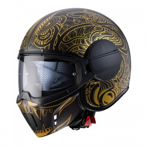 Caberg Ghost Maori Black matt-Gold