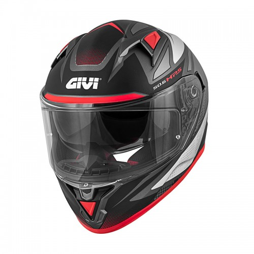 Κράνος Givi H50.6 Stoccarda Follow  Titan/Silver/Red