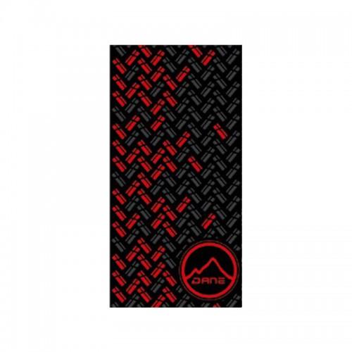 Φουλάρι Dane_ Stormcover tube 30 μαύρο/κόκκινο/γκρι