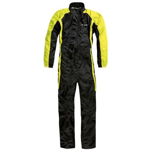 Αδιάβροχη ολόσωμη φόρμα Difi Norfolk 03 μαύρο-fluo