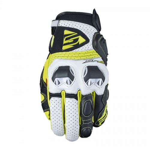 Five SF2 Gloves White/Fluo Yellow