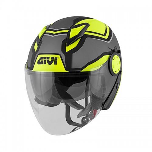 Givi H12.3 Stratos Matt Titanium/Black/Yellow