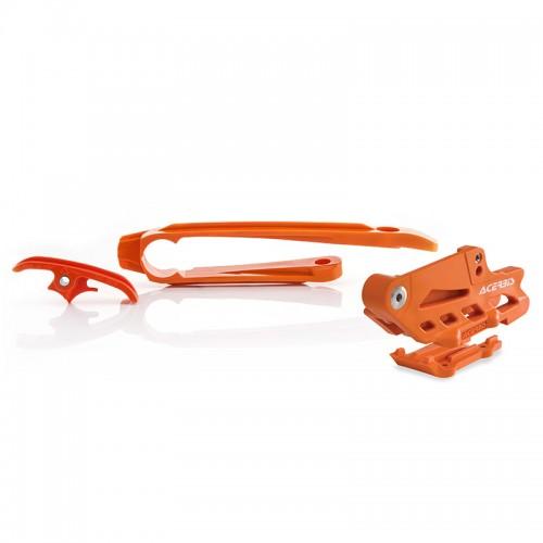Κιτ οδηγός+γλύστρα καδένας Acerbis _ 22349.010 _ KTM EXC '17 πορτοκαλί