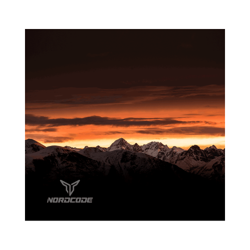 Φουλάρι Nordcode_ Tube neck 9 Canyon μαύρο/πορτοκαλί