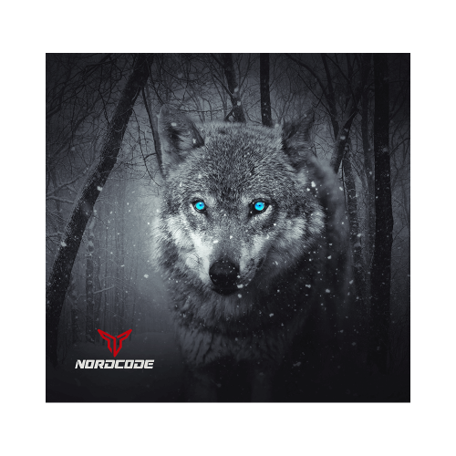Φουλάρι Nordcode_ Tube neck 12 Wolf μαύρο/γκρι