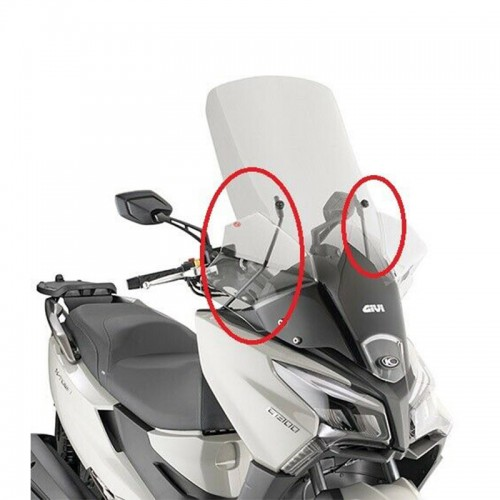 Givi Windshield kit D6115KIT X-Town 123-300'20 Kymco