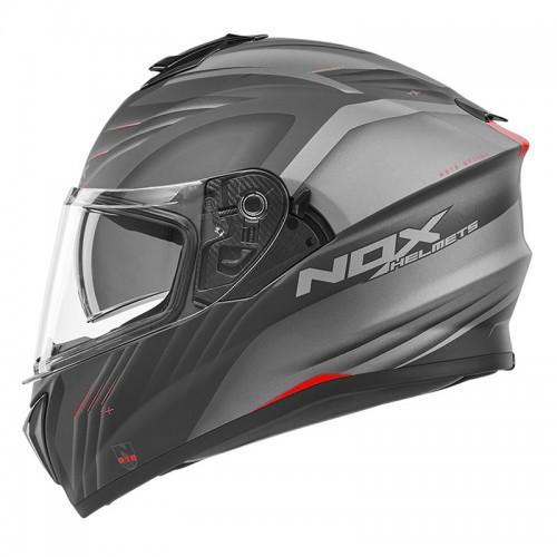 Κράνος Nox N918 Upside μαύρο/κόκκινο