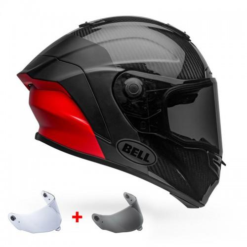 Κράνος Bell Racestar FLEX DLX Lux μαύρο/κόκκινο mat/gloss