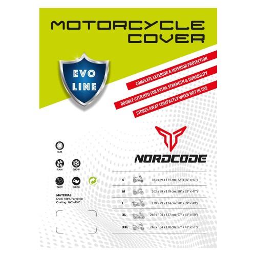 Kάλυμμα μοτό αδιαβροχο Nordcode Evo Line XL 246*104*127