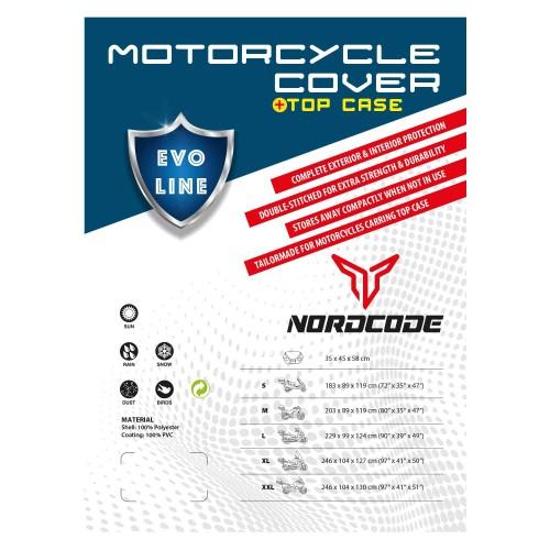 Kάλυμμα μοτόαδιαβροχο Nordcode Evo Line M +Topcase 203*89*119