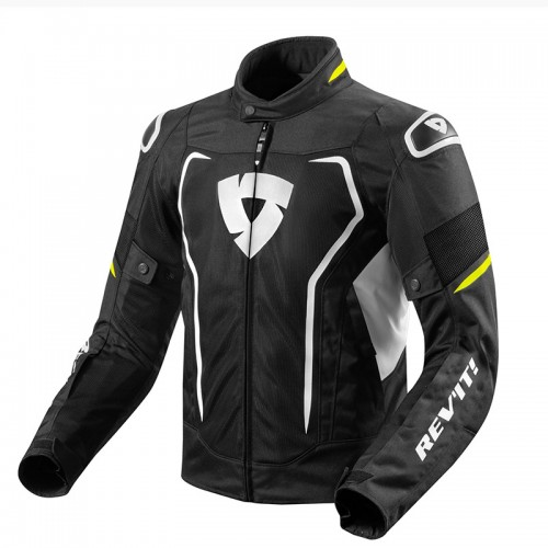 Rev'It Μπουφάν Vertex Air Ανδρικό Καλοκαιρινό μαύρο/neon κίτρινο
