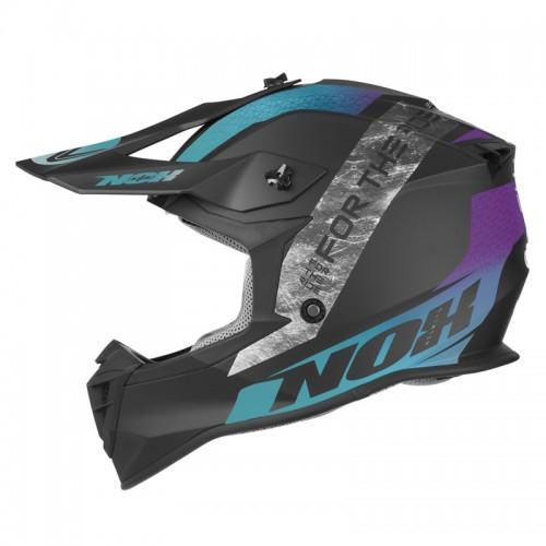 Κράνος Nox N633 Onyx matt μπλε/μωβ