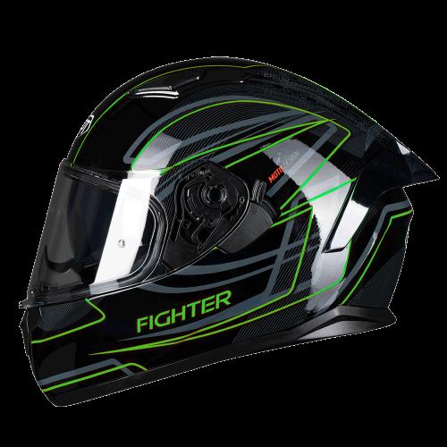 Κράνος Pilot Fighter-Flipper SV μαύρο/fluo gloss