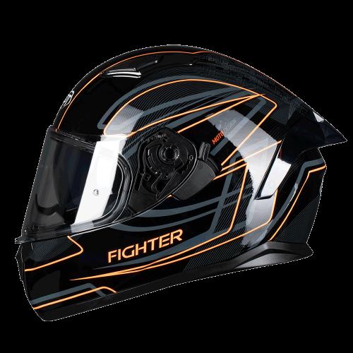 Κράνος Pilot Fighter-Flipper SV μαύρο/πορτοκαλί gloss