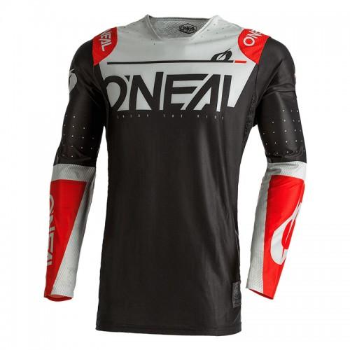 MX Μπλούζα Oneal Prodigy Five One μαύρο/γκρι/κόκκινο