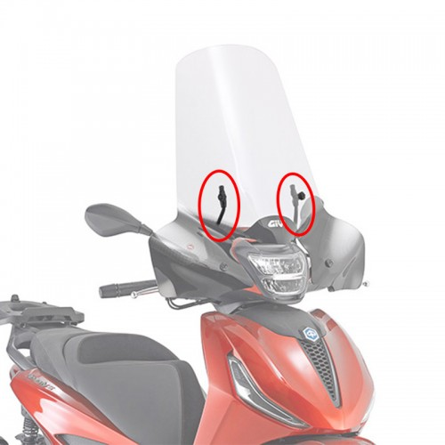 Givi Windshield Kit A5616A BEVERLY 300 HPE 2021 Piaggio