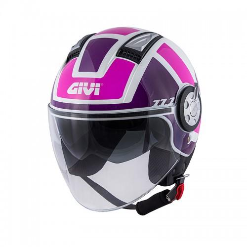 Κράνος Givi H11.1 NEW LADY white-pink-purple