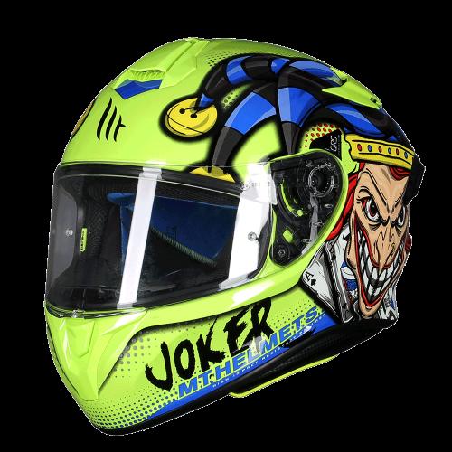 Κράνος MT Targo Pro Joker C3 fluo κίτρινο gloss