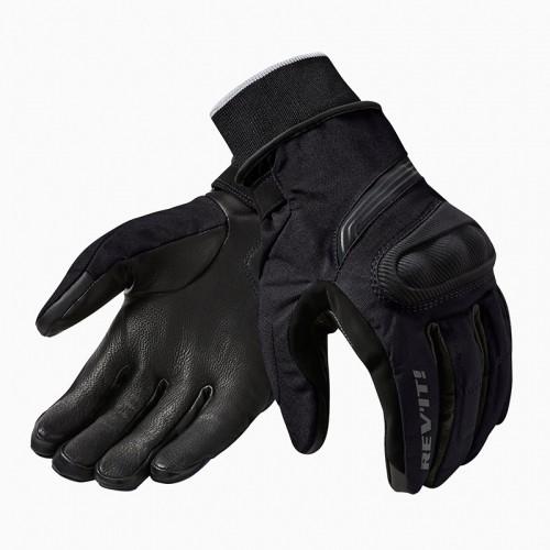 Rev'IT Δερμάτινα Χειμερινά Ανδρικά Γάντια Μηχανής Hydra 2 H2O Μαύρα