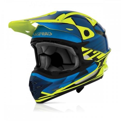 Helmet ACERBIS X-PRO KRAKEN 17701 blue - yellow