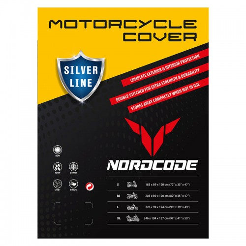 Kάλυμμα μοτό Nordcode Cover moto L Silver Line