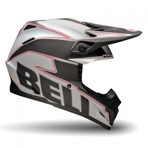 Κράνος Bell Moto-9 Emblem άσπρο