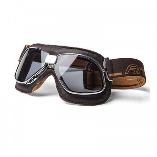 ARIETE VINTAGE GOGGLES, BROWN LEATHER. 13990-MCF