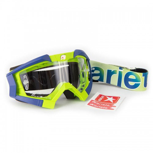 13950-LA15 MX GOGGLES RIDING CROWS LIME BLUE ARIETE