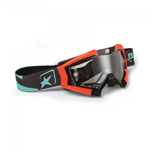 13950-TNOT MX GOGGLES RIDING CROWS TOP BLACK, ORANGE FLUO OUTRIGGERS
