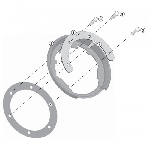 BF17 Specific flange for fitting the Tanklock tank bags GIVI
