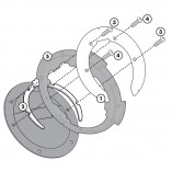BF02 Specific flange for fitting the Tanklock tank bags GIVI