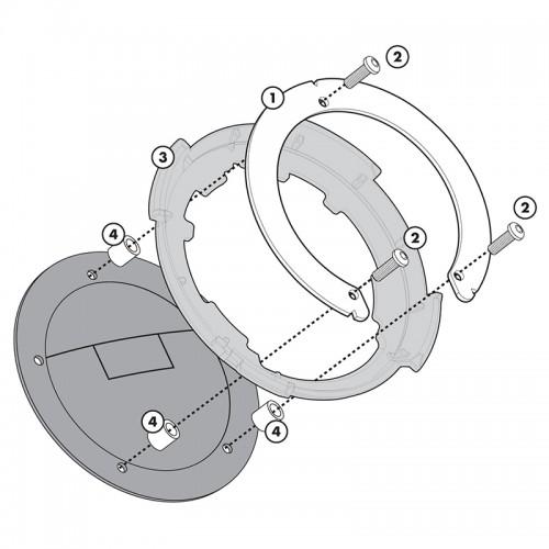 BF20 Σύστημα κλειδώματος σάκου στο ρεζερβουάρ GIVI