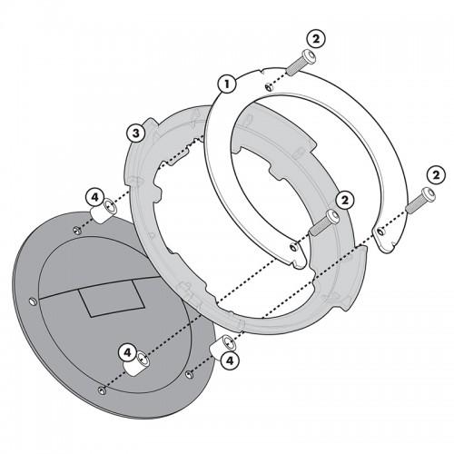 BF04 Σύστημα κλειδώματος σάκου στο ρεζερβουάρ GIVI