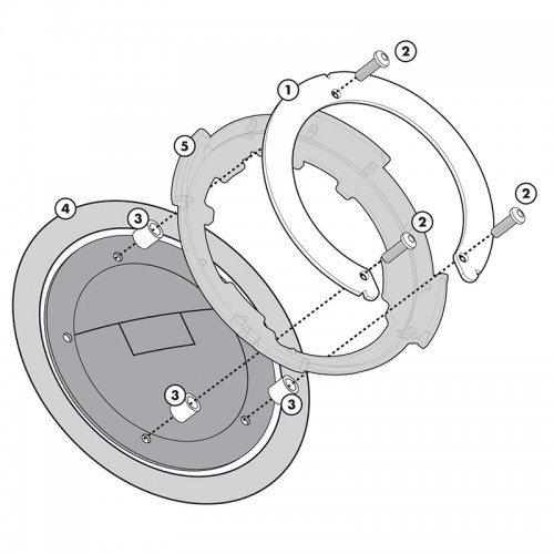 BF08 Specific flange for fitting the Tanklock tank bags GIVI