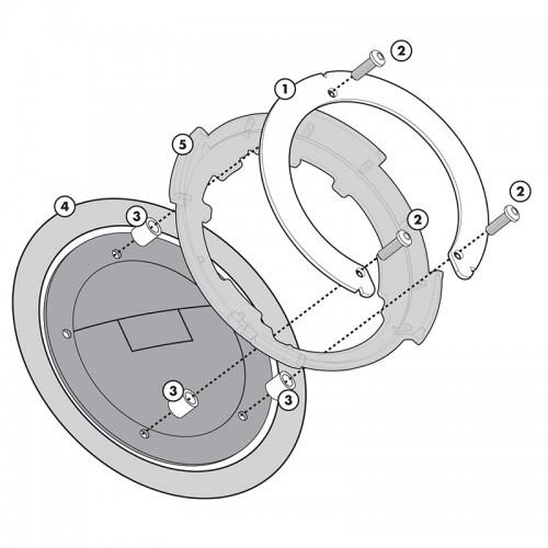 BF08 Σύστημα κλειδώματος σάκου στο ρεζερβουάρ GIVI