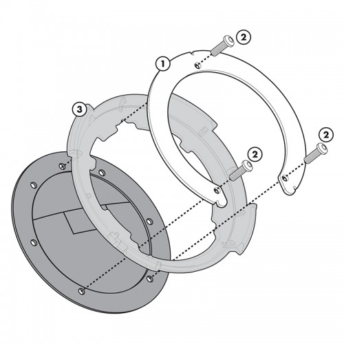 BF03 Specific flange for fitting the Tanklock tank bags GIVI