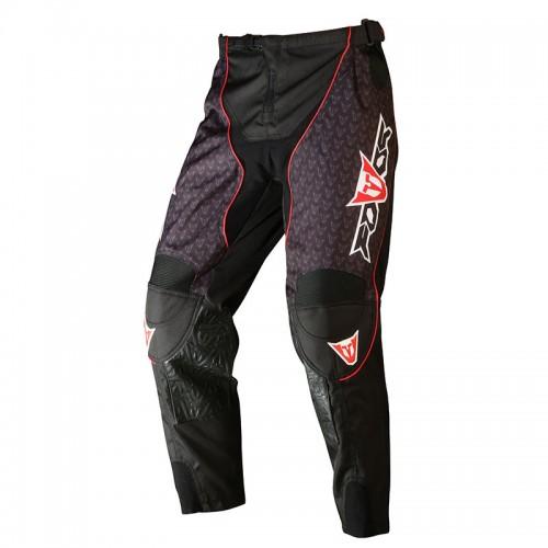 Παντελόνι ΜΧ Fovos μαύρο-κόκκινο-άσπρο