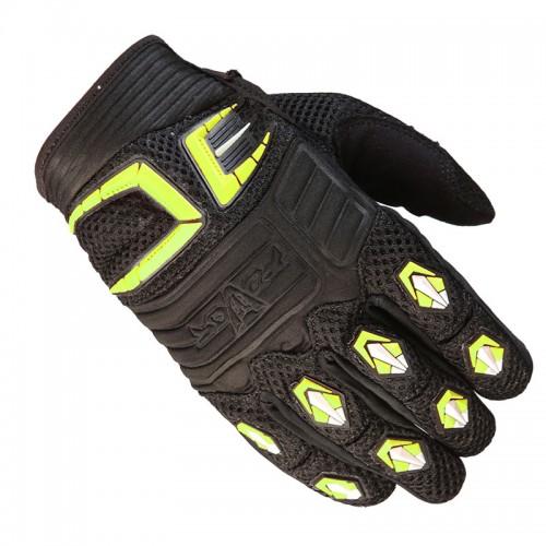 Γάντια Fovos Mx Rider μαύρο-κίτρινο neon