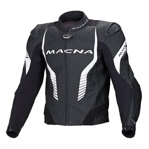 Flash leather jacket black-white - MACNA