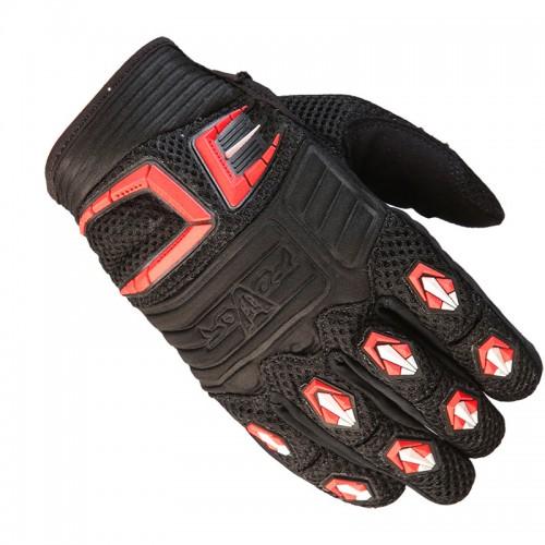 Γάντια Fovos Mx Rider μαύρο-κόκκινο-άσπρο
