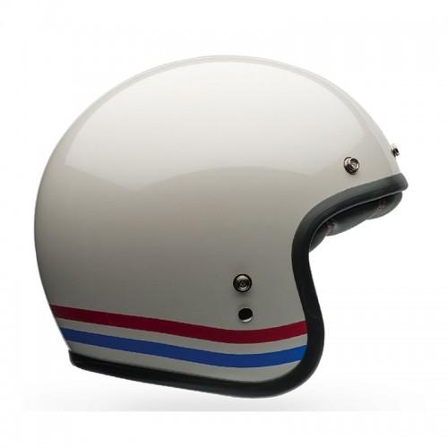 Κράνος Bell Custom 500 Stripes άσπρο pearl