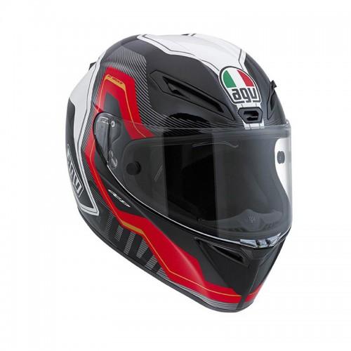 Kράνος AGV GT-Veloce Izoard μαύρο-κόκκινο-άσπρο