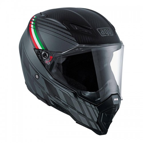 Kράνος AGV AX-8 Naked Carbon Black Forest ματ carbon-γκρί