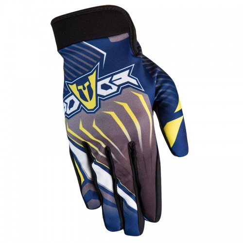 Gloves MX ATLAS blue/yellow  -  FOVOS