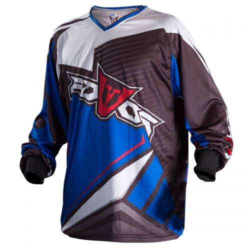 Jersey MX ATLAS black/blue  -  FOVOS