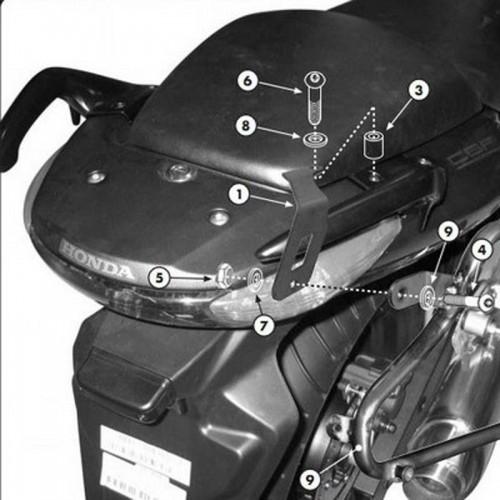 Βάσεις πλαϊνών βαλιτσών PLX174_CBF600/500'04 & 1000'06-10 Honda Givi